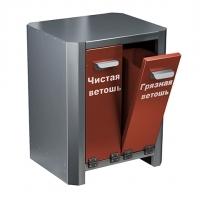 Ящики для ветоши металлические в кислотостойком исполнении