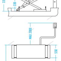 ПОДЪЕМНИК ножничный 3,5т, с встроенными адаптерами для SUV автомобилей, 220В NORDBERG N631-3,5_220(SUV)