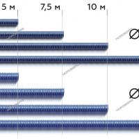 Шланг газоотводный D=100 мм, длина 10 м (синий) NORDBERG H102B10