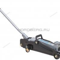 Домкрат подкатной для автолюбителя 2т в кейсе, Н=135-385 мм NORDBERG N3202EC